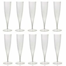 50x 230ml Plastic Champagne Flutes Disposable Party Wine Dine Toast Christmas