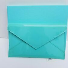 """NEW Tiffany & Co. Patent Leather Envelope Wallet 4 x 6"""""""