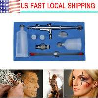 Dual Action Airbrush Kit 0.2mm/ 0.3mm/0.5mm Needle Air Brush Spray Gun Paint Art