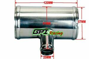 """2.25"""" 57 mm Blow Off Valve Adapter Aluminum T-Pipe Shape Tube 25mm ID BOV 3"""