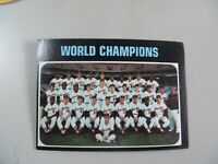 1971 TOPPS 1970 WORLD CHAMPIONS BALTIMORE ORIOLES CARD #1