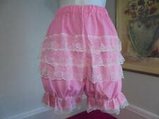 Crossdresser Sissy Pink Ruffle And Lace Lolita,Cosplay Or AB  Bloomer Size M