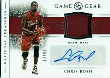 2018-19 NATIONAL TREASURES GAME GEAR CHRIS BOSH AUTOGRAPH GAME USED #D /99 HEAT