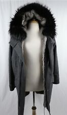 Yves Salomon Mens Fur Lined Parka Jacket Coat Size EU 48 Gray $3130
