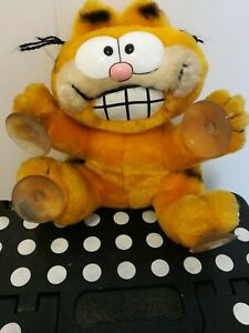 Retro Garfield 1978 'STUCK ON YOU' suckers for window. Pre owned. VG condition.