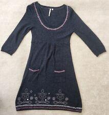 White Stuff Northern Lights Blackcurrant Nordic Cashmere Jumper Dress UK 10 K10