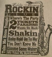 Eddie Money ROCKIN LIVE WHERE'S THE PARTY TAKE ME HOME TONIGHT Adult T-shirt L