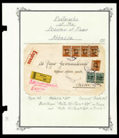 Italy Stamped Registered and Censored 1919 Military Cover