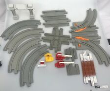 Geotrax gray track switch cross curve end straight bridge 18 pieces signs