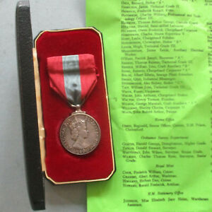Imperial Service Medal (QEII) Henry Terence Walton, Plumber