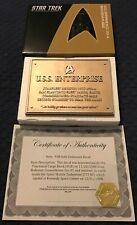 Star Trek USS Enterprise NCC 1701-A Dedication Plaque Eaglemoss PLUS!!!!