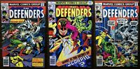Defenders #47 / #48 / #49 Moon Knight Early Appearances ALL THREE VF to VF+ RARE