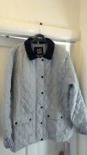 "Urban Diva quilrd jacket. grey with black corduroy collar. size XL. (44"" chest)"