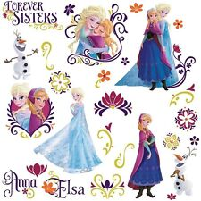 Disney FROZEN SPRING 27 Wall Decals Princess Room Decor Stickers Olaf Elsa Anna