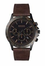 KAHUNA MEN'S BLACK DIAL BROWN STRAP CHRONOGRAPH WATCH WATCH - KCS0016G - RRP:£60