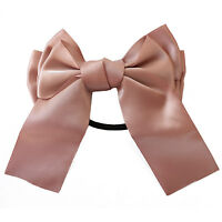 Cute Multicolor Satin Ribbon Bow Hair Band Scrunchie Ponytail Holder Bowknot