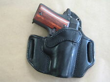 Sig Sauer P238 238 .380 Leather 2 Slot Molded Pancake Belt Holster CCW  Black RH