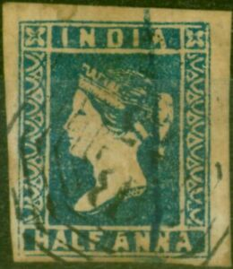 India 1854 1/2a Blue Used in Penang SGZ20 Good Used