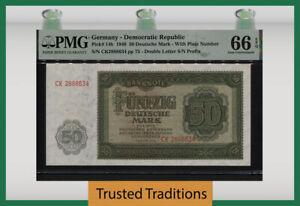 TT PK 14b 1948 GERMANY DEMOCRATIC REPUBLIC 50 DEUTSCHE  66 EPQ GEM UNCIRCULATED