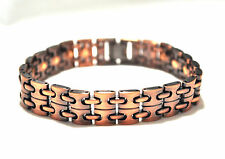 MENS 8.75 IN COPPER & COPPER CHAIN HEALING MAGNETIC THERAPY LINK BRACELET 4 Pain