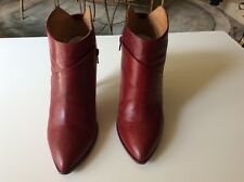 Maison Martin Margiela women's leather burgundy ankle boots high heels size 41US