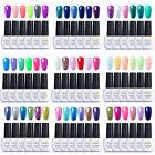 Ukiyo 6 Colors Candy Color UV LED Gel Polish Need Top Base Coat Nail Manicure