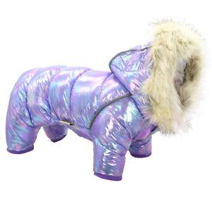 Waterproof Small Dog Costume Warm Hoodie Coat with Hat Reflective Winter Jacket