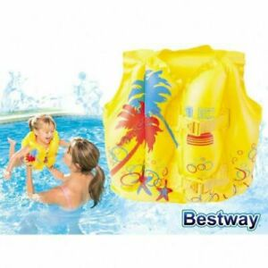 Bestway Kids Swim Float Vest Swimming Pool Aid Baby Life Jacket Inflatable Sail