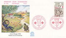 Enveloppe 1er jour FDC n°1103- 1978 Croix Rouge La Fontaine Lièvre & la tortue
