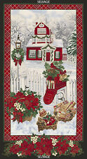 "Timeless Treasures Fabric CHRISTMAS MORNING, 23.5"" Panels"