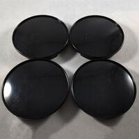 4* 68mm Universal Car Wheel Center Hub Caps Covers Set No-Emblem Black Durable