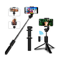 Selfie Stick Extendable Tripod + Bluetooth Remote Lens For all Iphone Models