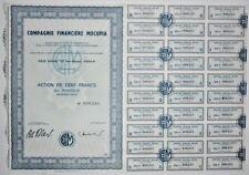 Action - Compagnie Financière MOCUPIA, action de 100 Frs N° 008245