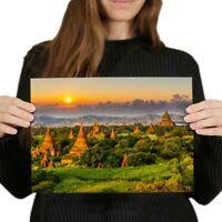 A4 - Temples Bagan Myanmar Burma Poster 29.7X21cm280gsm #3528