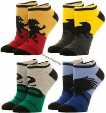 Brand New Licensed Harry Potter House Low Cut Ankle Socks 4 Pair Free USA Ship