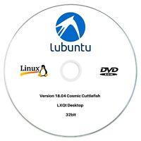 Lubuntu 18.04 32bit Live/Install Bootable DVD Linux OS