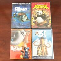 4 Family Movie DVD Lot Finding Nemo Ice Age King Fu Panda Horton Hears A Who