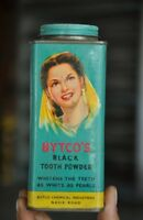 Vintage Bytco's Black Toothpowder Ad Litho Tin Box