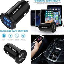 TECKNET Car Charger, Mini USB PowerDash 4.8A/24W 2-Port Rapid Car Charger