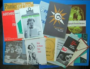 Lot of 26, Pamphlet, books,  Vintage 50's 60's recipe books, medical books, ect.