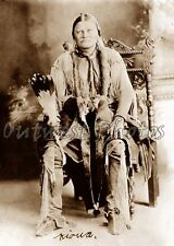 1880'S PHOTO OF A NATIVE AMERICAN KIOWA INDIAN WARRIOR