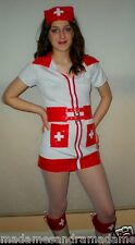 SEXY NURSE COSTUME OUTFIT Fancy Dress HALLOWEEN Ladies Party Dress Hen night