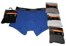 HEAD Herren Pants Boxershort 2er PACK Doppelpack uni 95%Baumwolle 5%Elastan