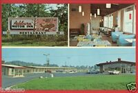 ASHBURN GA GEORGIA ASHBURN MOTOR INN RESTAURANT RIGDON OLD CARS   POSTCARD