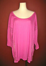 $88 NWT Splendid plus size 2x TUL cotton lace top shirt blouse USA