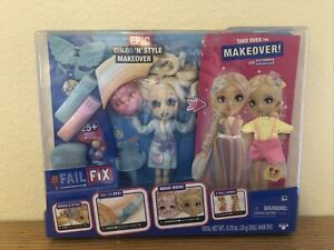 """FailFix 2Dreami Epic Color 'N' Style Makeover Doll Pack - 8.5"""" Fashion Doll"""