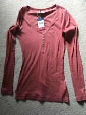 Tommy Hilfiger Denim Long Sleeve Top dusky pink T Shirt Size L