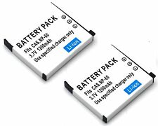 2x Battery for NP-60 Casio Exilim Zoom EX-Z19 EX-Z20 EX-Z21 EX-Z22 EX-Z85 EX-Z90