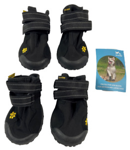 Zacro Protective Dog Boots 4PCS Waterproof Outdoor Shoes for Large Dogs Size 8