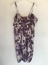 SIZE 8 PURPLE/LILAC SATIN DRESS PARTY/TOWIE/CLUBBING/BOHO/HOLIDAY NEW RRP £35